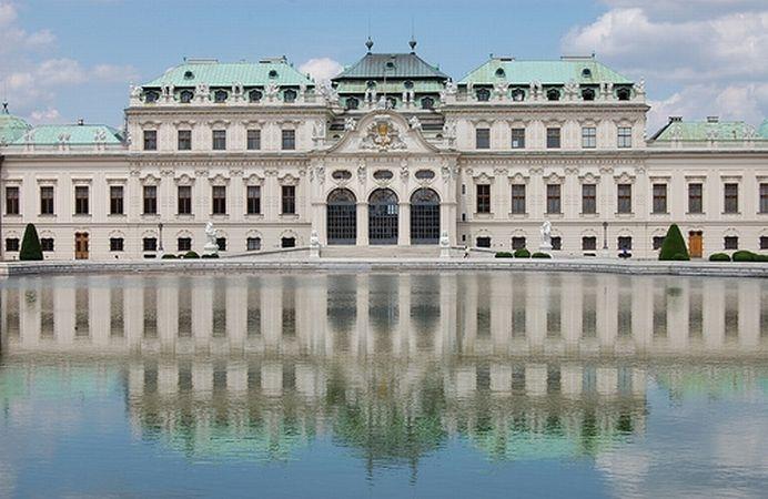 El Palacio de Belvedere en Viena