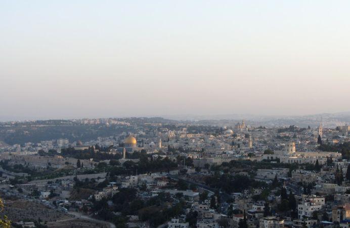 Jerusalén atardecer desde el monte Scopus