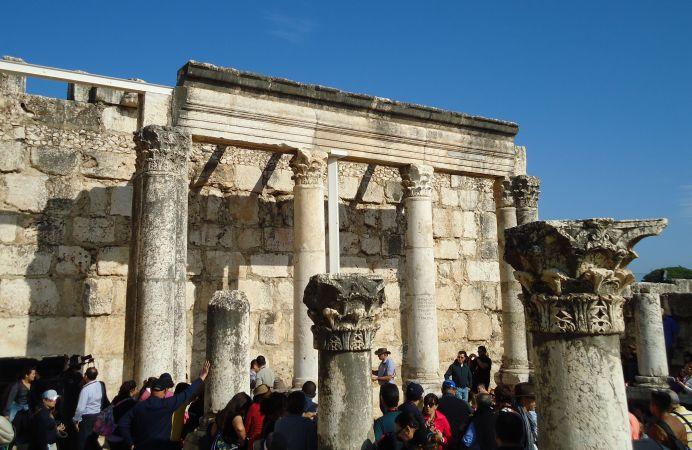 La sinagoga blanca de Cafarnaúm