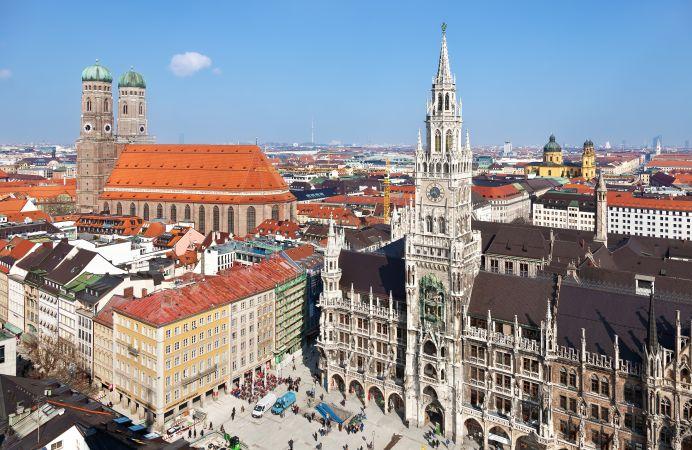 Marienplatz en el centro de Munich