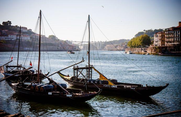 La Ribeira en Oporto.