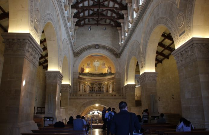 En la Basílica del monte Tabor