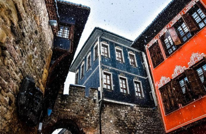 Primera nevada en Plovdiv, Bulgaria