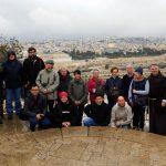 Nuestro grupo de amigos en Jerusalén, en 2016
